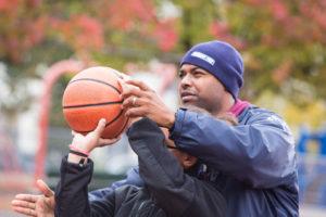 Dwayne Robinson coaching basketball